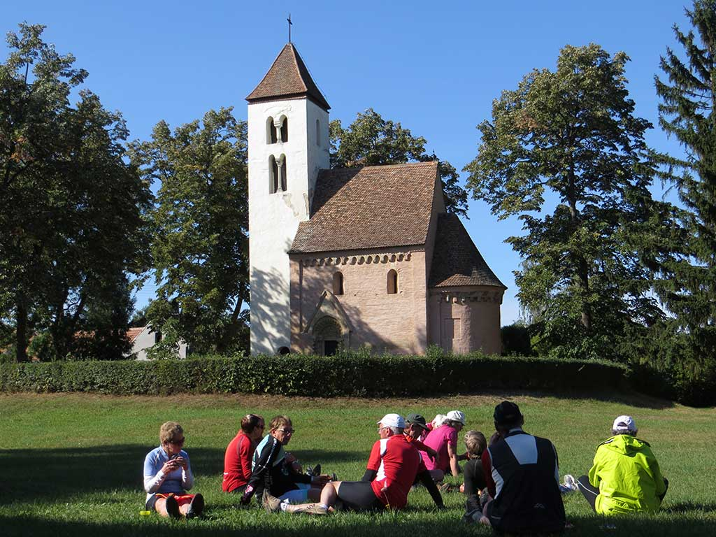 Bike tours in West Hungary - Picnic at a Romanesque church