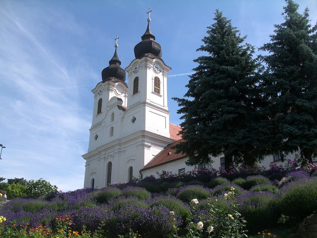 Bike tours Vienna-Balaton-Budapest - The Benedictine abbey in Tihany