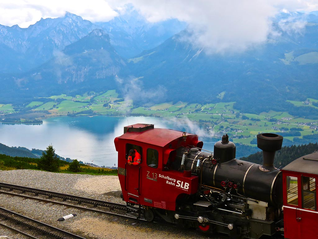 Bike tours in Austria at Salzburg - Steepest cog-wheel railway of Europe