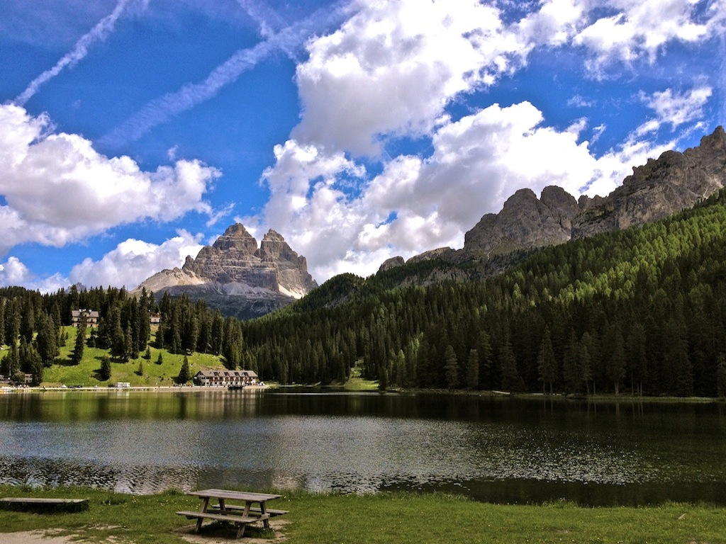 Bike tours in Italy Innsbruck-Venice - Nice view at Cortina d' Ampezzo