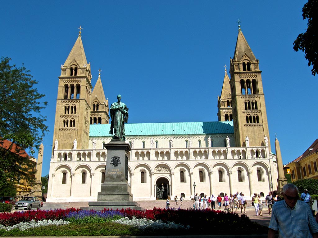 Bike tours in South Hungary - The Cathedral of Pécs